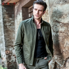 GustOmerD Military Army Mens jackets Cotton Jacket Men Casual bomber jacket men Military Clothing army green size m 58 to 65kg