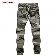 GustOmerD Man's Trousers New Trend Camouflage Trousers Casual Mens Pants High Quality Men Clothing grey L