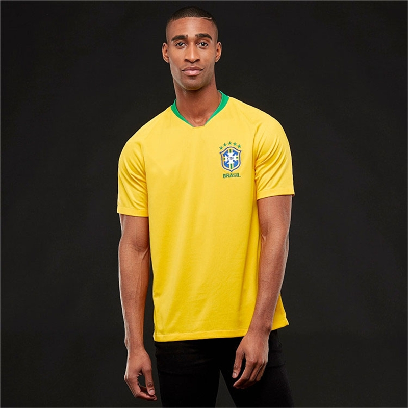 de03ca5ef Russia World Cup Tshirt Suits Brazil National Home Uniforms Football Fans  Sport Tshirts Brazil size s 50 to 58kg polyester  Product No  1405941. Item  ...