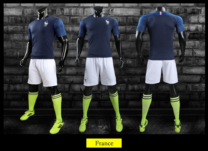 bb79617c9b2 2018 Russia World Cup Tshirt France National Home Uniforms Football Fans  Sport Tshirts Suit France size
