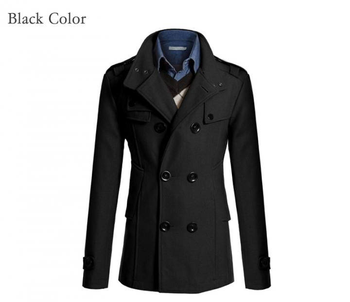 4f426ea6250 Kilimall  Men s woolen trench coat new male England Slim Fit long ...