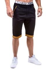 GustOmerD New Casual Elastic Brand Jogger Beach Shorts Bermuda Beach Shorts Outer Wear Trousers black m