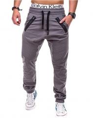 GustOmerD 2018 Summer Fashion Slim Solid Color Elasticity Hip Hop Sweatpants Leisure Men's Trousers gray m