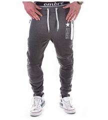 GustOmerD Fashion Autumn Leisure Hip Hop Pants Runner Pants For Men dark gray m