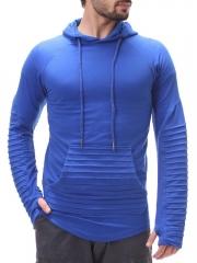 GustOmerD 2018 Spring Fashion Men Hoodies Jackets High Quality Cardigan Hip Hop Striped Fold Hoodies blue size m 45 to 52kg