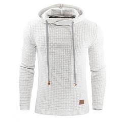 GustOmerD Hoodies Men Long Sleeve Sweatshirt Mens Hoodie Tracksuit Sweat Coat Casual Sportswear white size m 50 to 58 kg