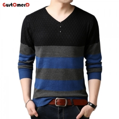 GustOmerD New Fashion Men Knitted Sweater Slim Fit Pullover Men Button Sweaters For Men black size xxl 72 to 80 kg