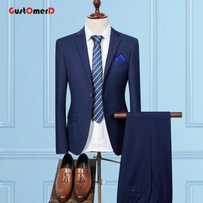GustOMerD Mens Suits Wedding Groom Plus Size 2-Piece Set Slim Fit ... 26469d1e504a