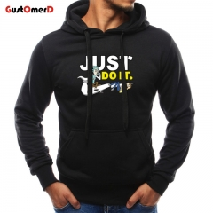 GustOMerD Hoodies Autumn Winter Casual Sweatshirts Long Sleeve Printed Slim Fit Mens Coat Streetwear black size m 45 to 52kg