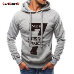 GustOMerD Winter Men Hoodies Sweatshirts Hooded Pullover Casual Male Print Fashion Long Sleeve gray size m 45 to 52kg