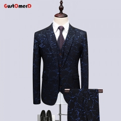 GustOMerD Wedding Dress For Men Suit Business Men Suit Slim Fit Casual Jacket Fashion Gentleman Coat flower size m 45 to 52kg