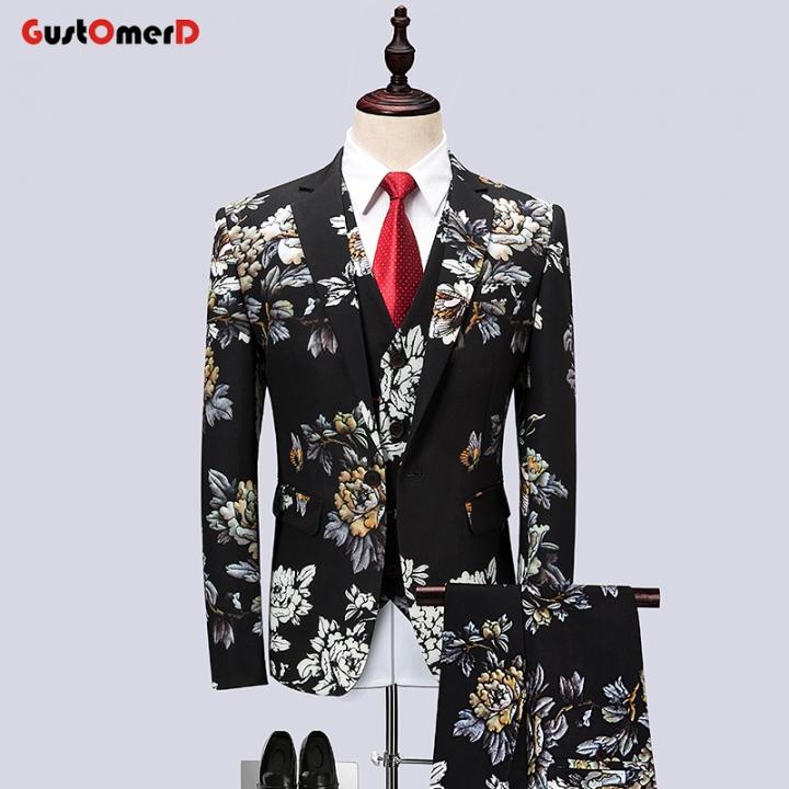 Gustomerd Suit Men Latest Coat Pant Designs Wedding Suits Plus Size