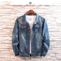 GustOmerD New Fashion Men's Casual Jacket Coat Slim Denim Men's Clothing Jeans blue size m 50 to 58kg