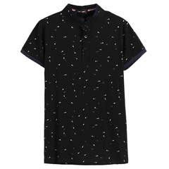 GustOmerD New Guitar Printed Tops Male T-shirt Man's Casual Cotton Short Sleeve Tee Fashion T-shirts black size l 58 to 65kg cotton & polyester