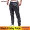 GustOMerD Men's Sweatpants Fashion Men Pencil Pants Drawstring Solid Color Zipper Decoration Pants dark gray m