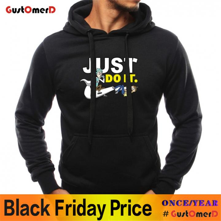GustOMerD Hoodies Autumn Winter Casual Sweatshirts Long Sleeve Printed Slim Fit Mens Coat Streetwear black size m 45 to 52kg