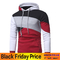 GustOmerD New Personalized Multicolor Splicing Men's Casual Hoodies Slim Hooded Jacket red size xl 65 to 72 kg