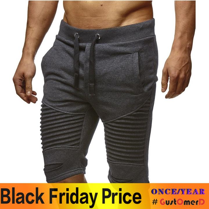 GustOmerD Pure Color Hot Slim Slim Casual Men Shorts Personality Popular Classic Shorts grey m