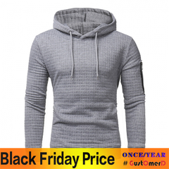 GustOmerD New Foreign Trade Explosion Jacquard Hooded Men's Casual Hoodies Coat light grey size m 50 to 58 kg