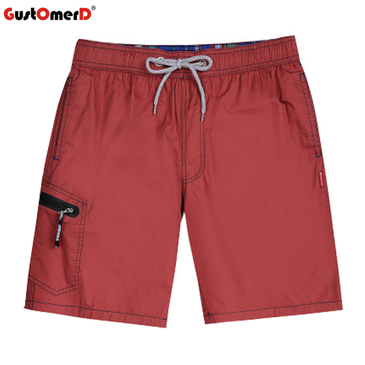 GustOmerD Men's Shorts Sport Beach Shorts Quick Dry Breathable Soft Swimwear Surfing Swimming Shorts wine red l