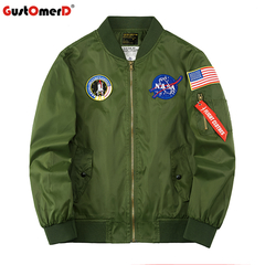GustOmerD Men Jacket Asstseries Bomber Army Military Jacket Air Force Thickening Plus Hiking Jacket army green size m 58 to 65kg