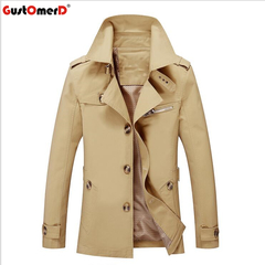 GustOmerD New Brand Men's Jacket Coat Fashion Stand Collar Casual Slim Jacket Men Cotton Coat wheat size m 50 to 58kg