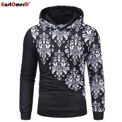 GustOmerD Male Hip Hop Long Sleeve Hooded Sweatshirt Hoodie Tracksuit Coat Casual Sportswear Hoodies black size m 58 to 65kg