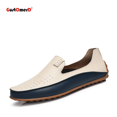 Causal Shoes Men Loafers Breathable Holes Flat Shoes High Quality Leather Moccasins Driving Shoes 1 6