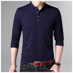Polo Shirt Men Long Sleeve Cotton Polo Men Brand High Quality Casual Tee Shirt Men England Polos navy size m 50 to 58kg cotton & polyester