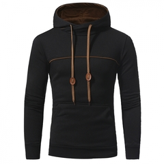 GustOmerD  New Striped Color Hoodies Men's Casual Hooded Hood Sweater Jacket black size L 58 to 65kg