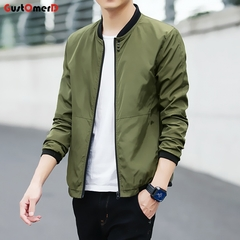 2018 New Fashion New Mens Sunscreen Coat Casual Mens Sunscreen Jacket Coat Army green size l 58 to 65kg