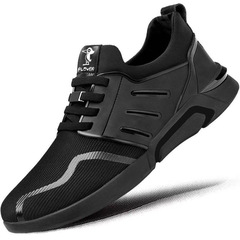 1 Pair Quality Casual sports Rubber sport Sole Men Shoes black-black 39