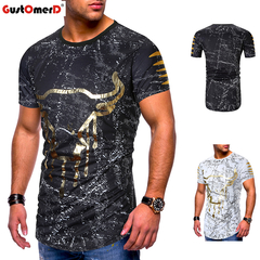 GustOmerD Sports Running Top Tees Mens Clothing Short Sleeve Casual O Neck cotton Fitness Tshirt black size m 58 to 65kg cotton & polyester