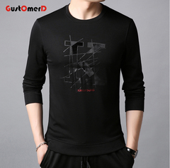 GustOmerD Men Long Sleeve Pullover Men's Sweatshirts Comfortable Black Men's Sweatshirts black 165/85A