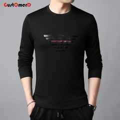 GustOmerD Men Long Sleeve Pullover Fashion Sweatshirts Comfortable Black Men's Sweatshirts black 165/85a
