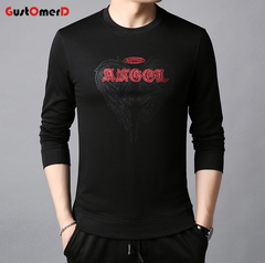 GustOmerD Men Long Sleeve Pullover Men's Sweatshirts Comfortable Men Sweatshirts black 165/85a