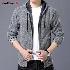 GustOmerD New Fashion Jacket Men Casual Mens Solid Color Jacket Mens Coats Casual hooded Jackets light grey 165/85a
