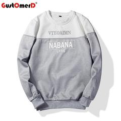 GustOmerD Hooded Pullover Sweatshirt Mens 3D Hoodies Solid Sweatshirts Hip Hop Cotton Warm Tracksuit grey size m 50 to 58 kg