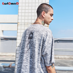 GustOmerD Short Sleeve Cotton Funny T-shirt Men Hip Hop Clothes Oversize Streetwear Casual Shirts light grey size m 58 to 65kg cotton & polyester