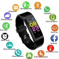 GustOmerD New Men Women Heart Rate Monitor Blood Pressure Fitness Tracker Smartwatch Sport Watch black one fit all