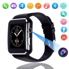 GustOmerD Camera Touch Screen Support SIM TF Card Bluetooth Smartwatch iPhone Android Smartwatch black one fit all