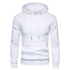 Solid Color Cotton Mens Hoodies Fleece Sweatshirt Men Soft Feel Sporting Men Hoodies size xxl 80 to 88kg white