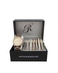 JESICA Womens Rampage Gold-Tone Watch Set gold