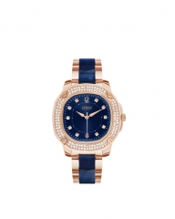 CATHERINE Rose Gold Navy Ladies Watch gold