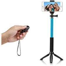 Selfie Booth Bluetooth Selfie Stick With Tripod Stand blue normal