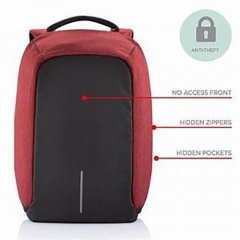 anti theft back pack bag Red normal