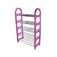 Portable shoe rack purple