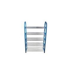 Portable shoe rack blue