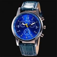 Sloggi Brand Quartz Watches Fashion Men Leather Strap Watch Women Dress Wristwatche coffee