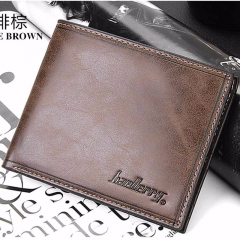 Wallet men soft leather purse wallet vintage style top quality male wallet purse dark brown one size